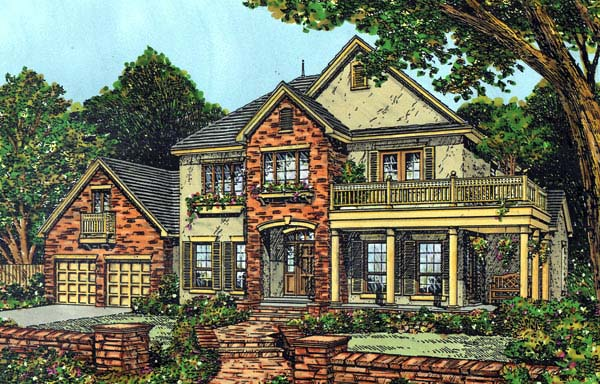 Mediterranean Southern House Plan 63163 Elevation