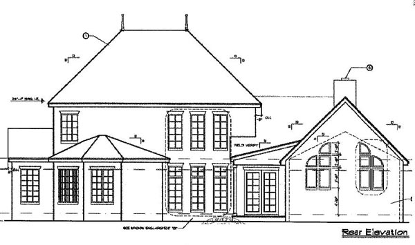 Mediterranean Southern House Plan 63163 Rear Elevation