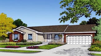 Country Farmhouse Traditional House Plan 63170 Elevation