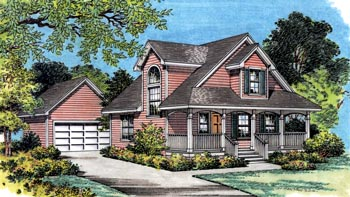 Coastal Cottage House Plan 63173 Elevation
