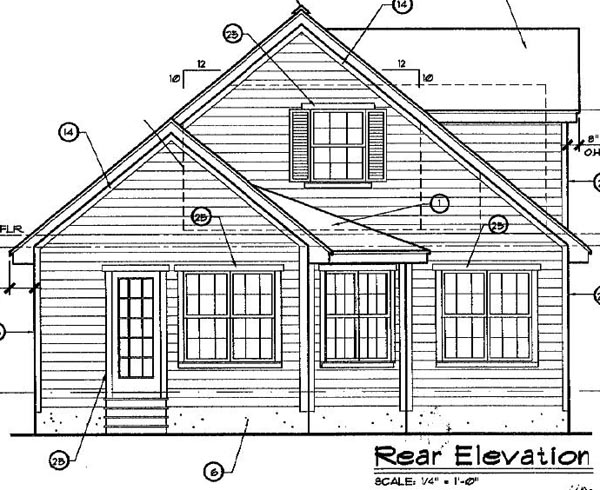 Coastal Cottage House Plan 63173 Rear Elevation