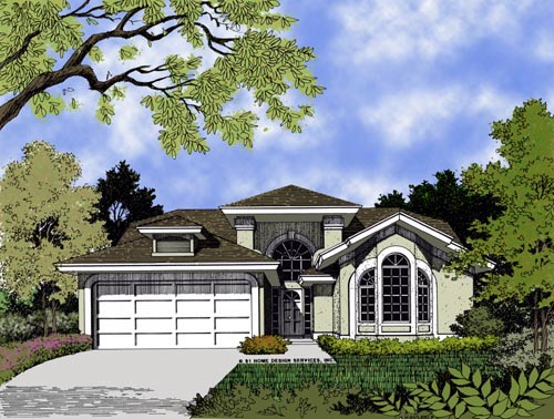 Contemporary Florida Mediterranean House Plan 63178 Elevation