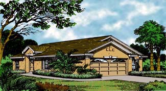 Contemporary Florida Mediterranean House Plan 63182 Elevation