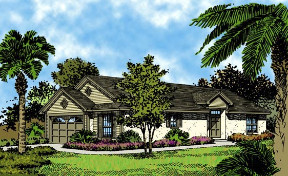 Colonial Florida Traditional House Plan 63188 Elevation