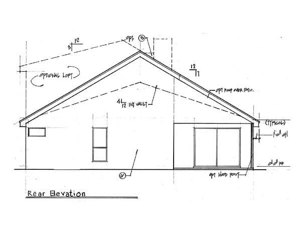 Contemporary Florida Mediterranean House Plan 63194 Rear Elevation