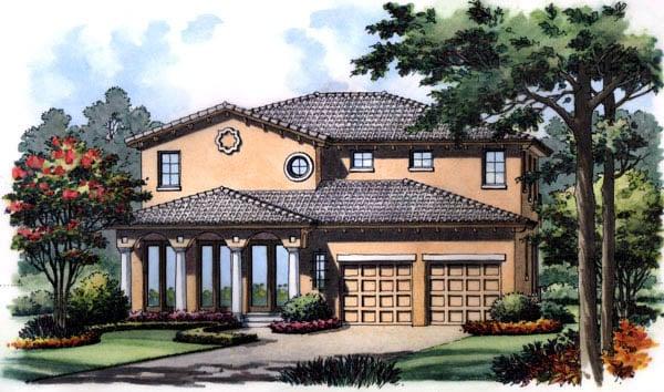 Florida Mediterranean House Plan 63214 Elevation