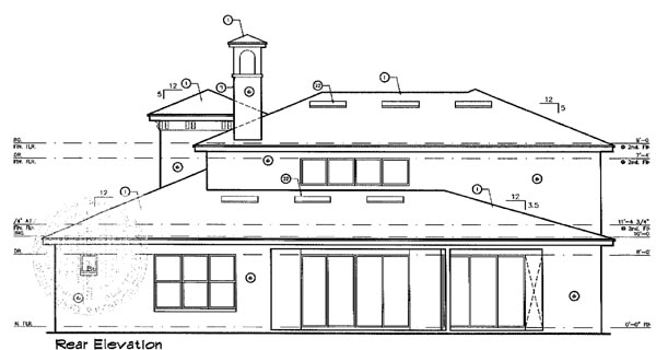 House Plan 63221 Rear Elevation