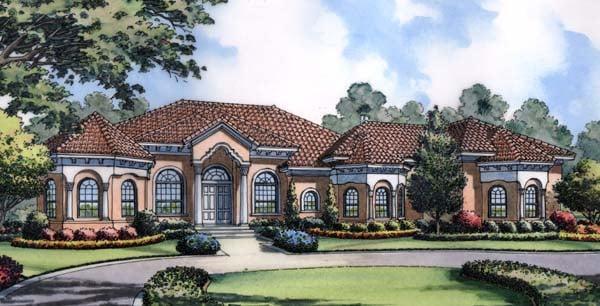 Mediterranean House Plan 63222 Elevation