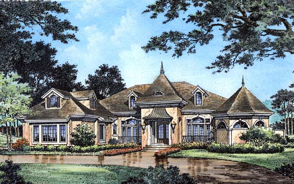 Victorian House Plan 63260 with 4 Beds, 4 Baths, 3 Car Garage Elevation