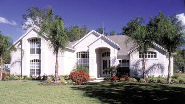 Contemporary Florida Mediterranean House Plan 63261 Elevation