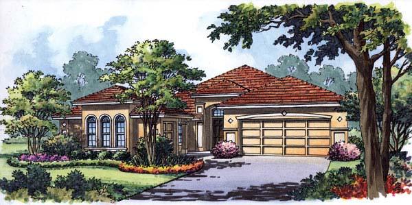 Contemporary Florida Mediterranean House Plan 63290 Elevation