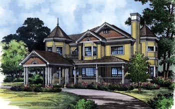 Country, Southern, Traditional, Victorian House Plan 63319 with 4 Beds, 3 Baths Elevation