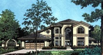 Contemporary Florida Mediterranean House Plan 63338 Elevation