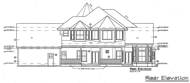Cottage Southern Traditional Victorian House Plan 63340 Rear Elevation