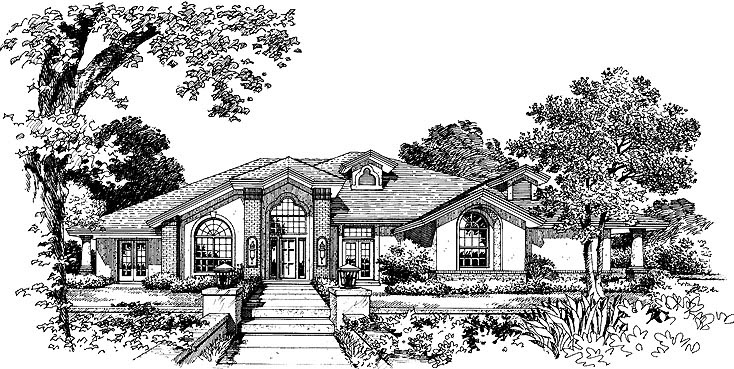 Traditional House Plan 63352 Elevation