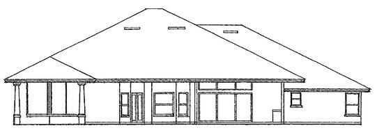 Traditional House Plan 63352 Rear Elevation