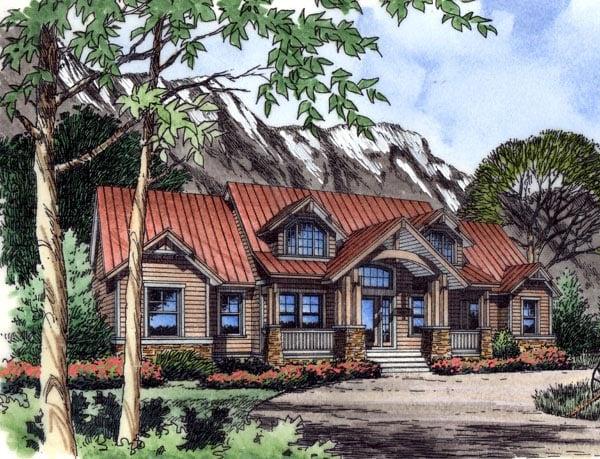Craftsman Traditional House Plan 63356 Elevation