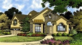 European Traditional House Plan 63358 Elevation