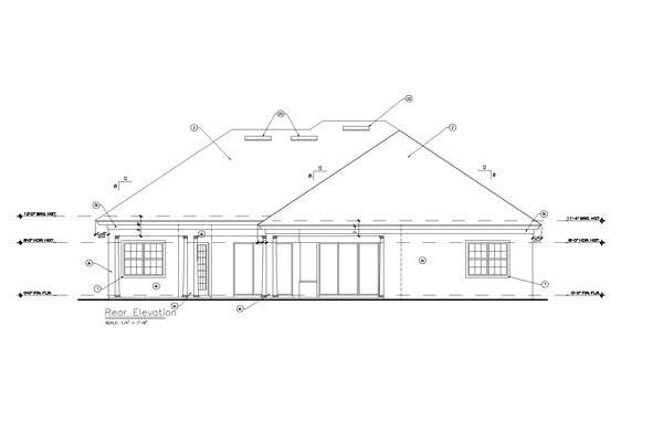 European Mediterranean Tuscan House Plan 63378 Rear Elevation