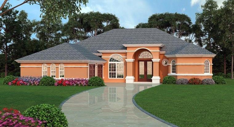 European Mediterranean Tuscan House Plan 63379 Elevation