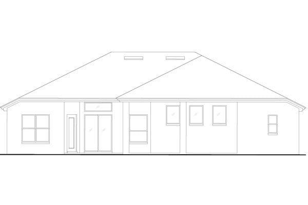 European Mediterranean Tuscan House Plan 63379 Rear Elevation