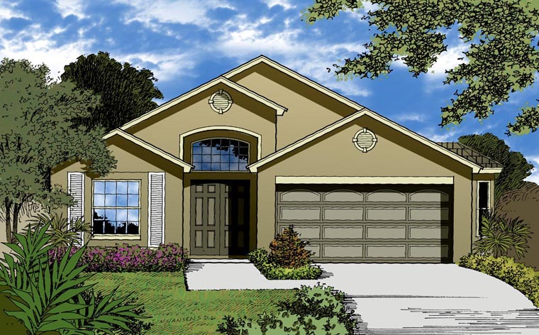 Country Traditional House Plan 63387 Elevation