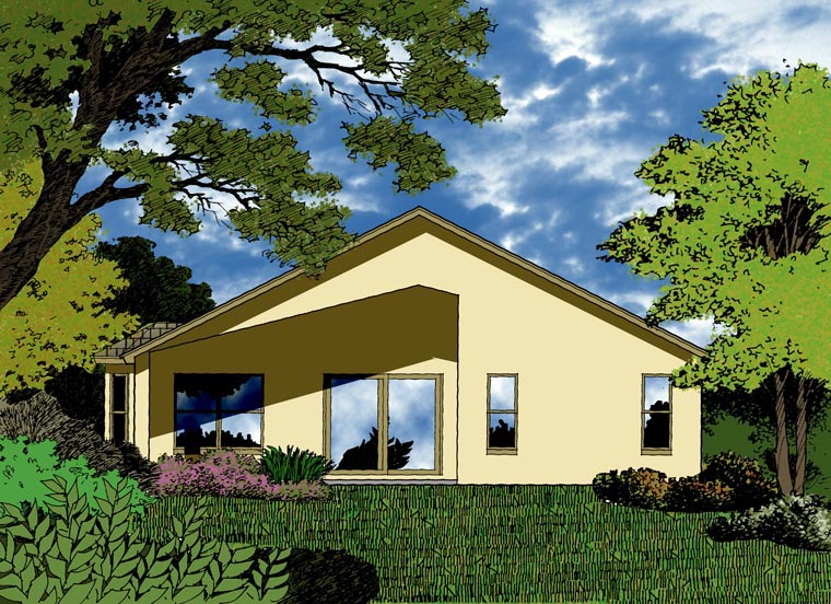 Country Traditional House Plan 63387 Rear Elevation