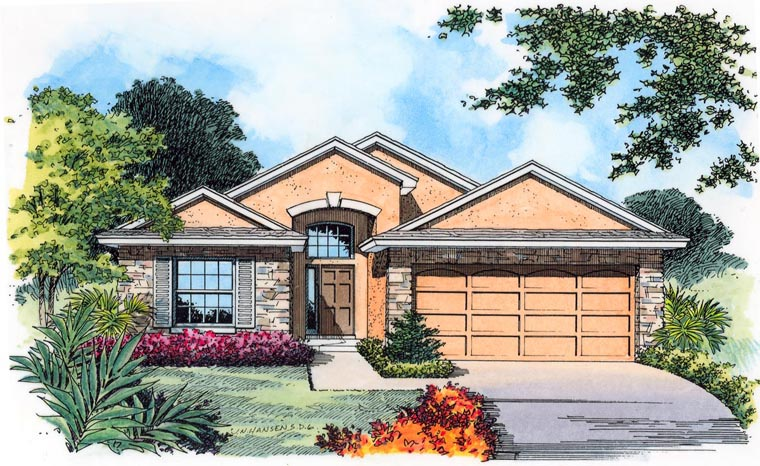 Country Traditional House Plan 63388 Elevation