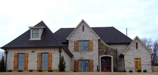 House Plan 63703 with 4 Beds, 3 Baths, 3 Car Garage Elevation