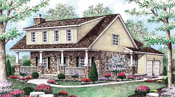 Cape Cod House Plan 64405 Elevation