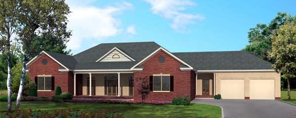 House Plan 64413 Elevation