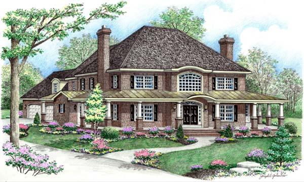 Farmhouse House Plan 64414