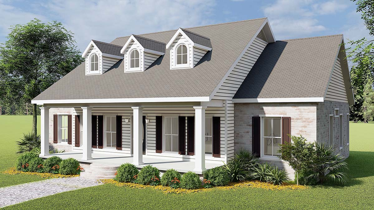 Country, One-Story, Southern House Plan 64501 with 3 Beds, 3 Baths, 2 Car Garage Picture 1