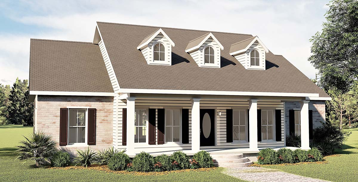 Country, One-Story, Southern House Plan 64501 with 3 Beds, 3 Baths, 2 Car Garage Picture 2