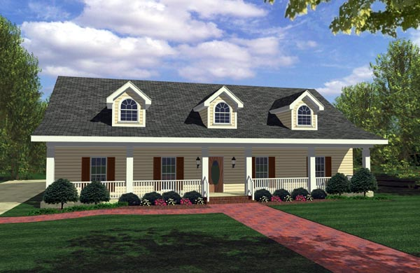 Country House Plan 64503 with 4 Beds, 3 Baths, 2 Car Garage Elevation