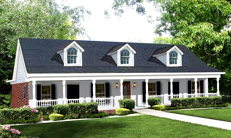 Colonial Southern House Plan 64511 Elevation