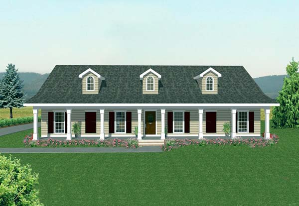 Country House Plan 64513 Elevation