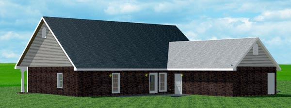 Country Traditional House Plan 64514 Rear Elevation