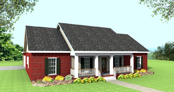 Cabin Country Ranch House Plan 64515 Elevation