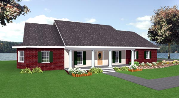 Ranch House Plan 64520 Elevation