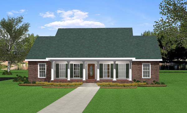 Southern Traditional House Plan 64533 Elevation