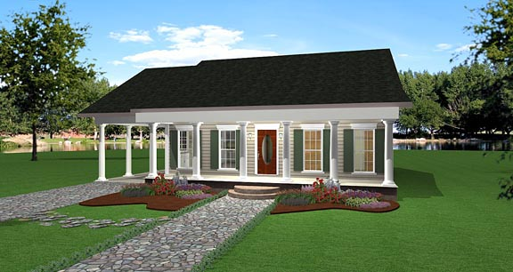 House Plan 64558 Elevation