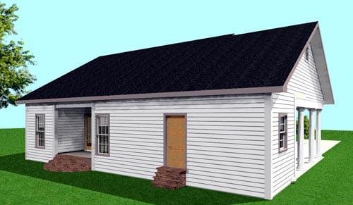 House Plan 64558 Rear Elevation