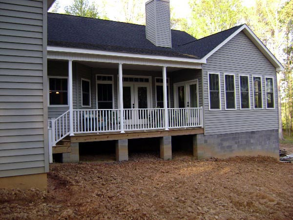 Country Craftsman Traditional House Plan 64565 Rear Elevation