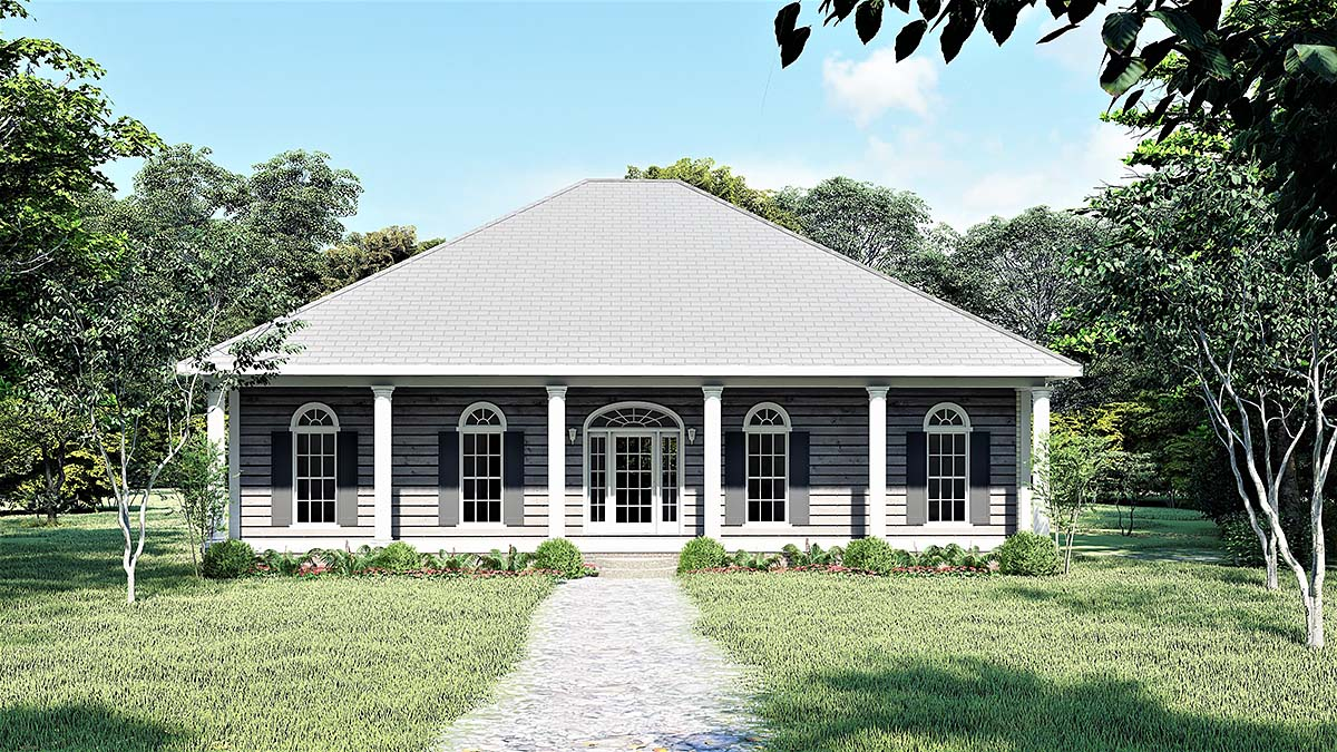 Country House Plan 64568 Elevation