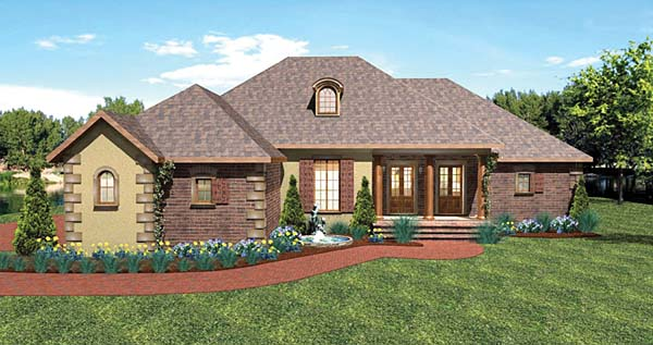 European Traditional House Plan 64570 Elevation