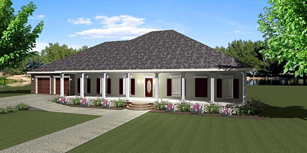 Country House Plan 64572 Elevation