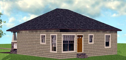 Craftsman House Plan 64576 Rear Elevation