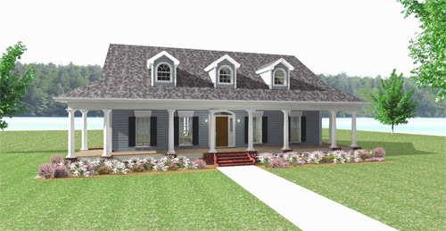 Country Southern House Plan 64579 Elevation