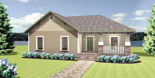 Cottage Country Craftsman House Plan 64581 Elevation